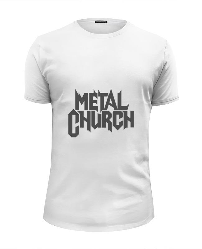 Футболка Wearcraft Premium Slim Fit Printio Metal church виниловая пластинка metal church metal church