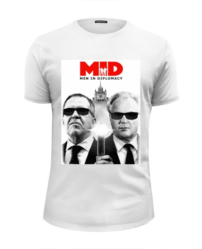 Футболка Wearcraft Premium Slim Fit Printio Mid - men in diplomacy футболка рингер printio men in diplomacy