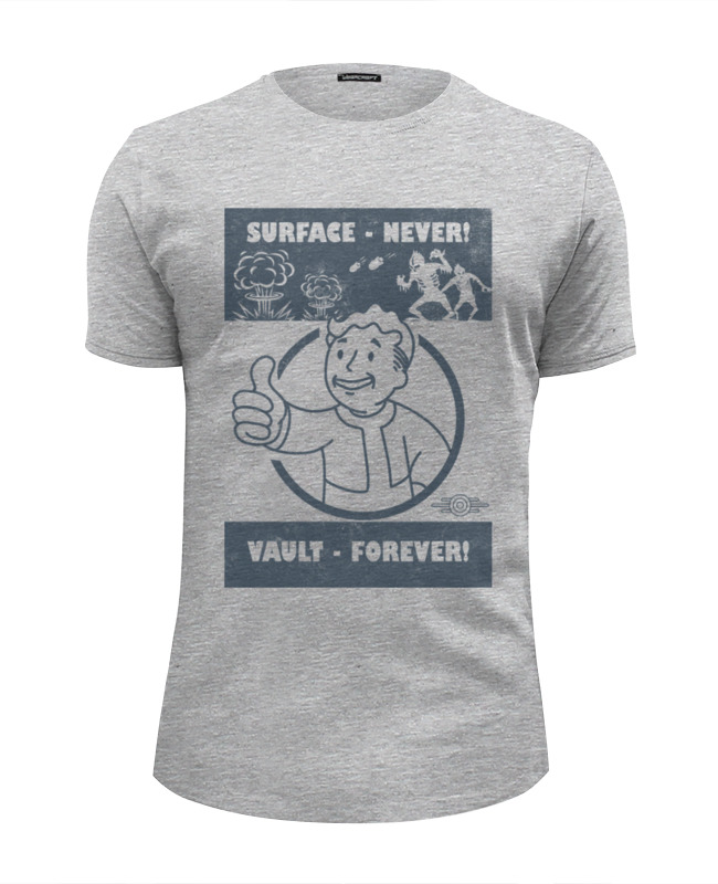 Футболка Wearcraft Premium Slim Fit Printio Fallout. vault - forever! футболка wearcraft premium slim fit printio fallout vault shelter
