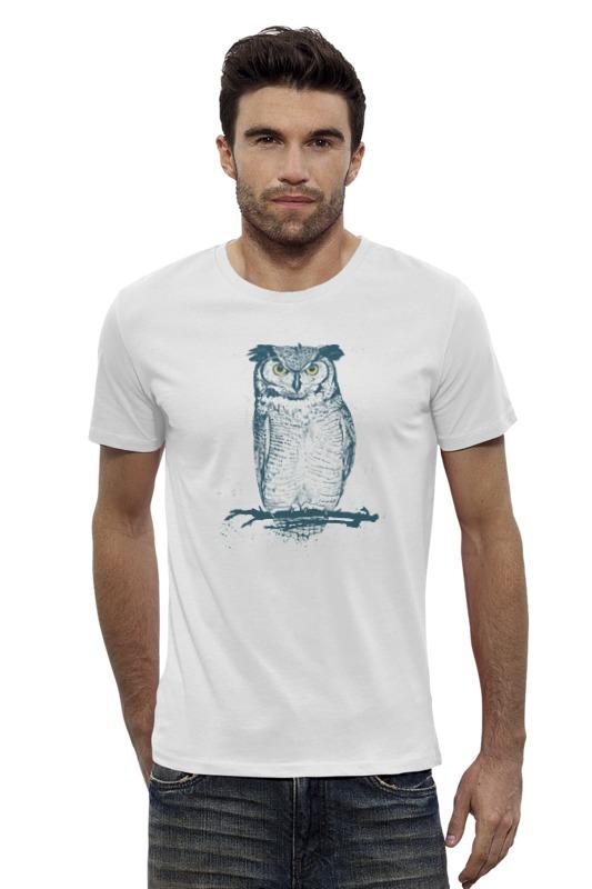 Футболка Wearcraft Premium Slim Fit Printio Сова (owl) футболка wearcraft premium slim fit printio ночная сова