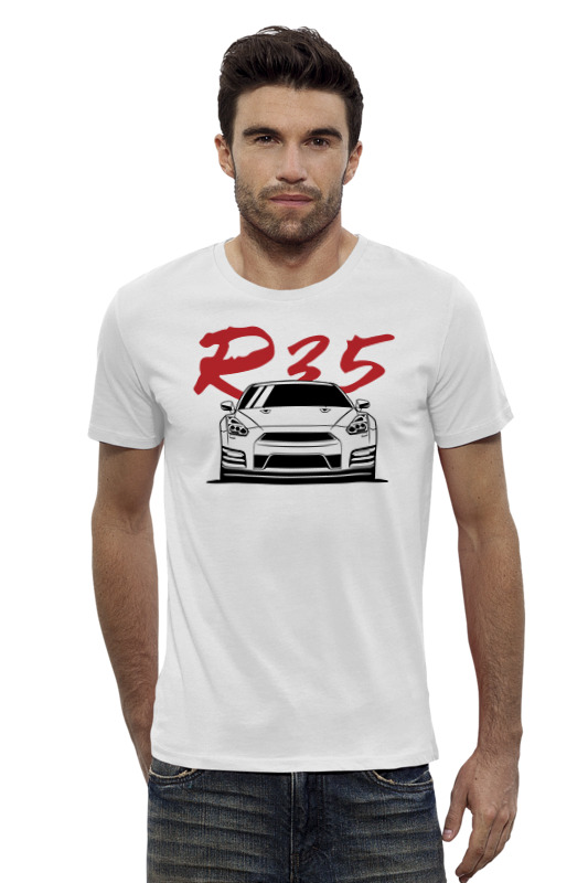 Футболка Wearcraft Premium Slim Fit Printio Nissan gtr r35 блендер philips hr 3556 00 on the go viva collection