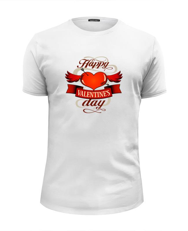 Футболка Wearcraft Premium Slim Fit Printio Happy valentnine's day футболка wearcraft premium printio happy valentnine s day