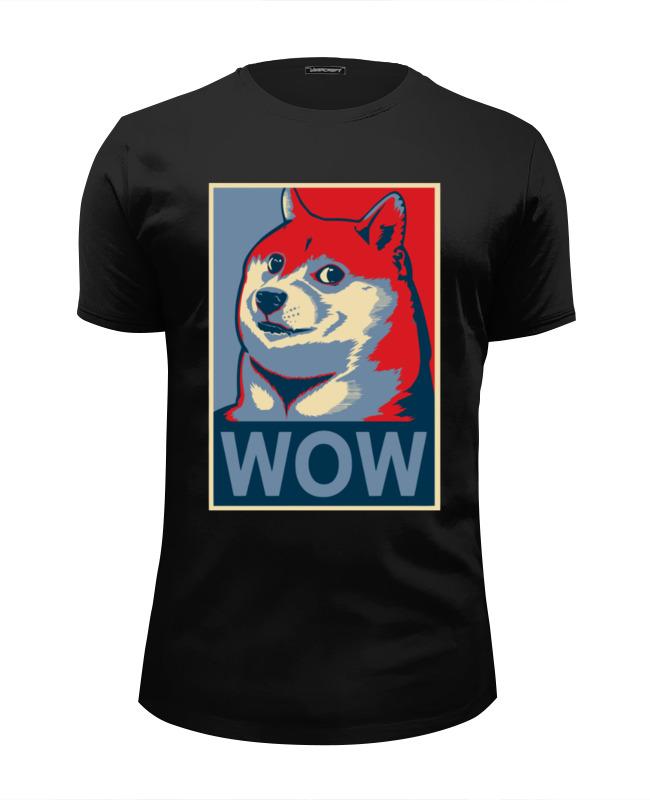 Футболка Wearcraft Premium Slim Fit Printio Wow doge