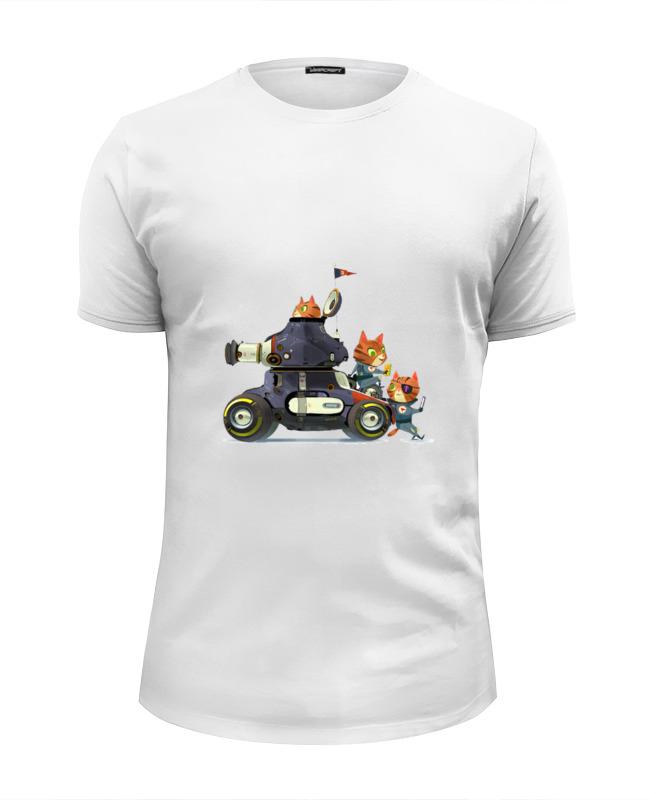 Футболка Wearcraft Premium Slim Fit Printio Кошки на танке футболка для беременных printio кошки не дети