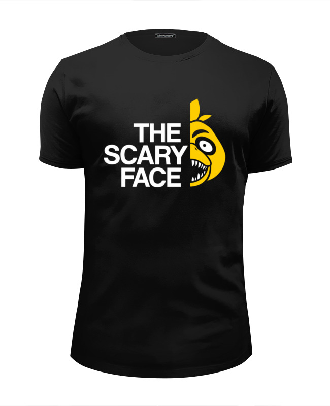 Футболка Wearcraft Premium Slim Fit Printio Scary face (пять ночей у фредди)