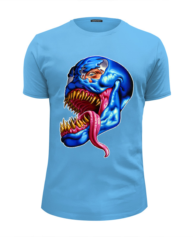Футболка Wearcraft Premium Slim Fit Printio Venom design футболка wearcraft premium slim fit printio democracy by design ministry
