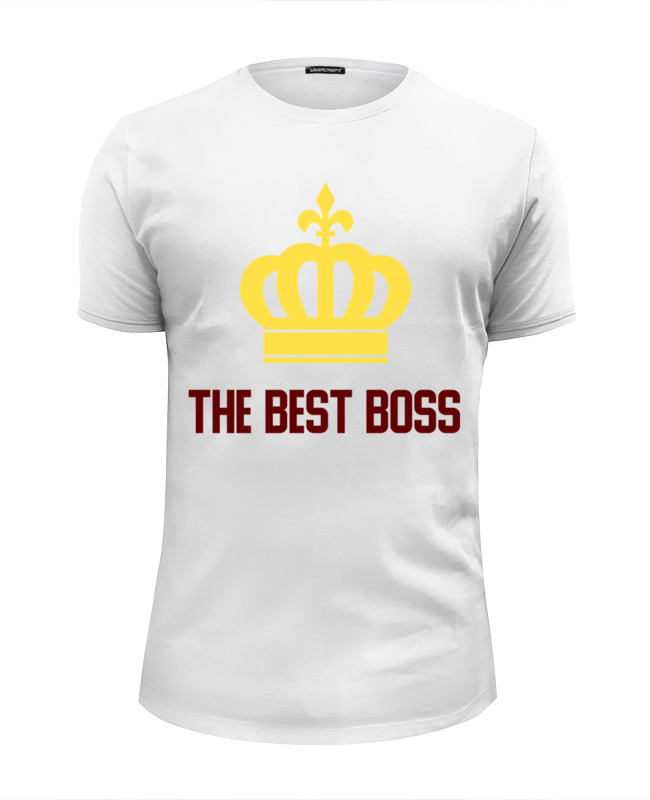 Printio The best boss with crown футболка wearcraft premium printio the beauty and the best