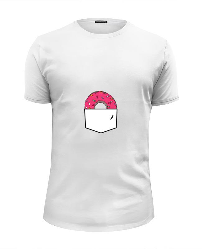 Футболка Wearcraft Premium Slim Fit Printio Пончик в кармане футболка wearcraft premium slim fit printio демонический пончик