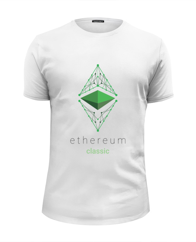 Футболка Wearcraft Premium Slim Fit Printio Ethereum classic сумка printio ethereum classic