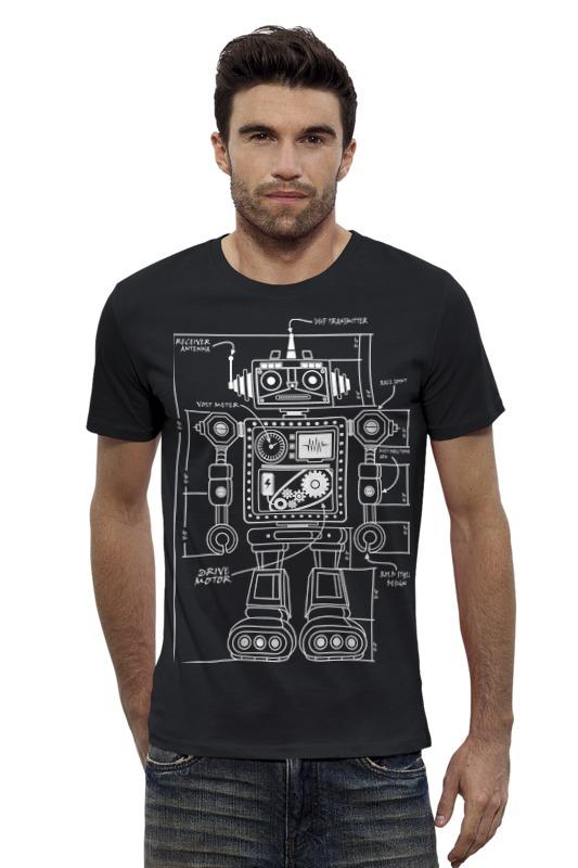 Футболка Wearcraft Premium Slim Fit Printio Робот футболка wearcraft premium slim fit printio vampire