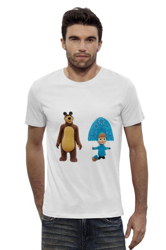 Футболка Wearcraft Premium Slim Fit Printio Кукла-девочка маша и миша. смешные озорные