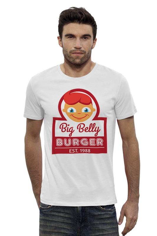 Футболка Wearcraft Premium Slim Fit Printio Big belly burger хочу автомат для продажи фаст фуда