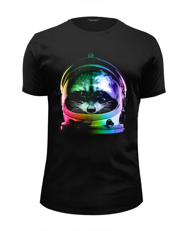 Футболка Wearcraft Premium Slim Fit Printio Енот космонавт футболка wearcraft premium slim fit printio русский космонавт