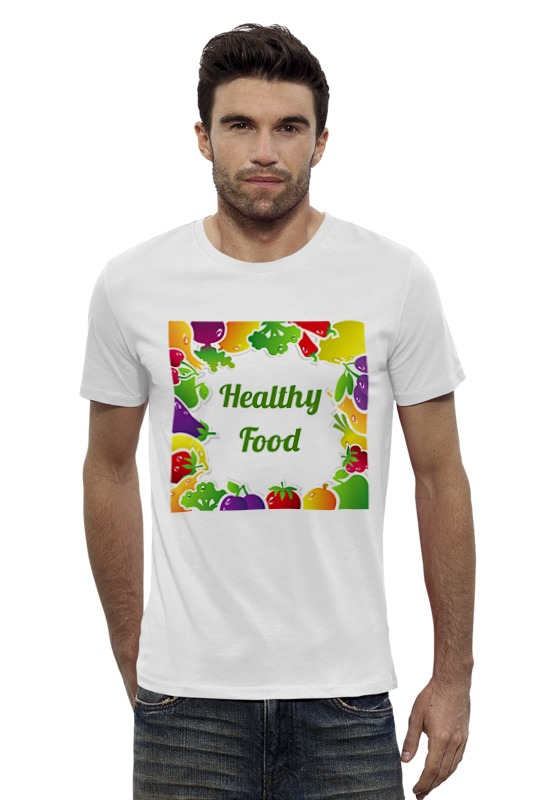 Футболка Wearcraft Premium Slim Fit Printio Healthy food