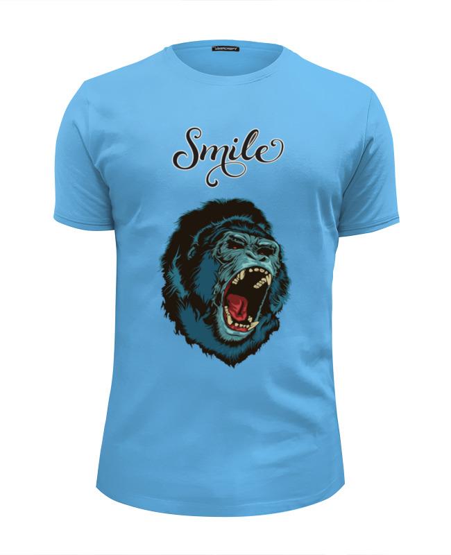 Футболка Wearcraft Premium Slim Fit Printio Smile коляска прогул alf i smile line al 08 синий голубой