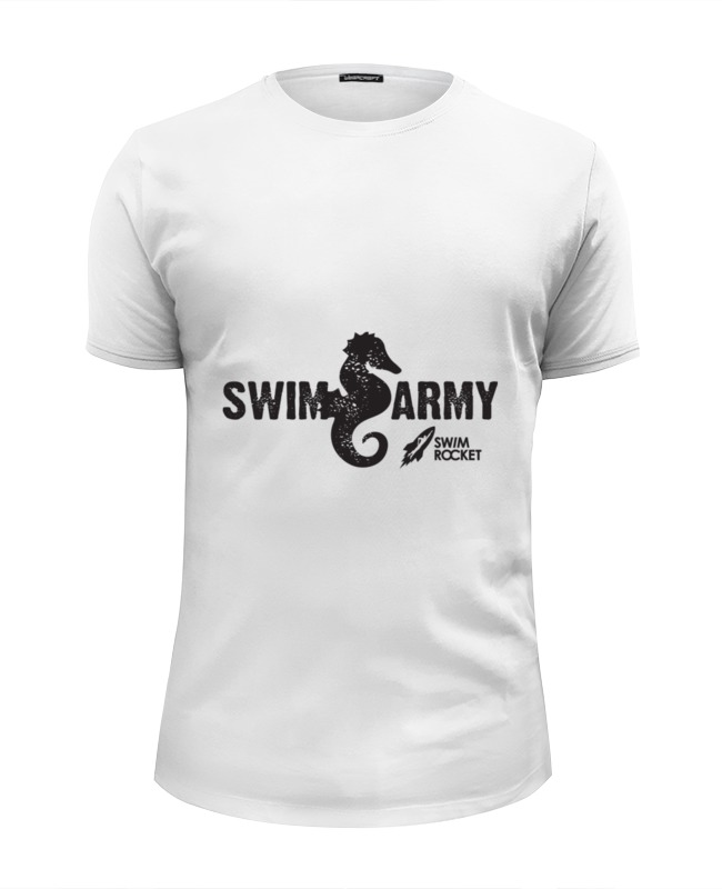 Футболка Wearcraft Premium Slim Fit Printio Swim army army of me футболка