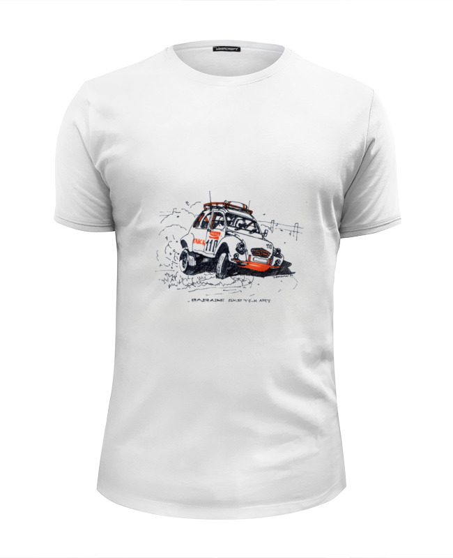 Футболка Wearcraft Premium Slim Fit Printio Автомобиль citroen 2cv rally 16 hskk