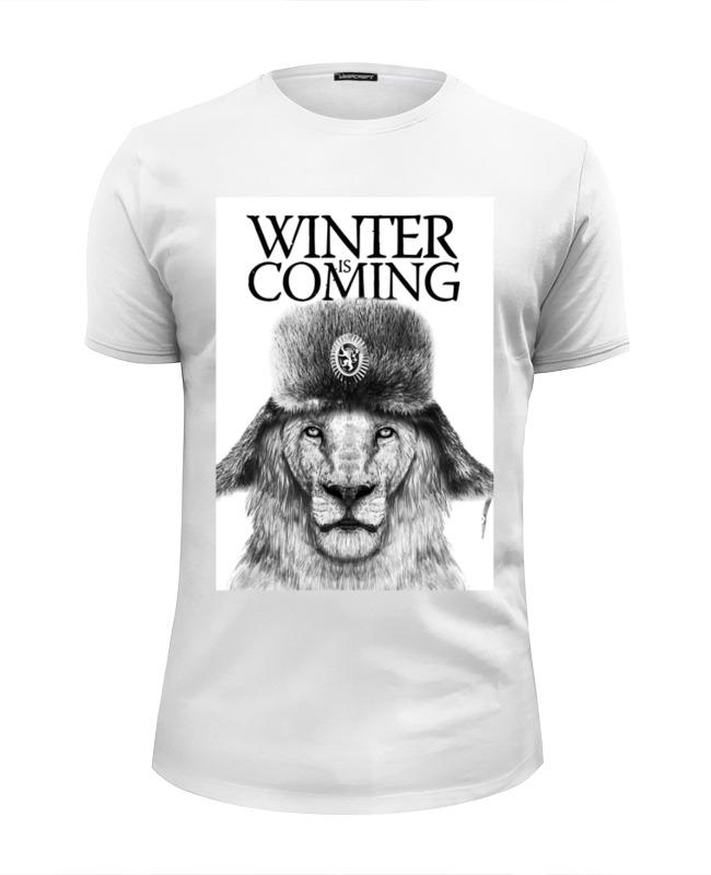 Футболка Wearcraft Premium Slim Fit Printio Winter is coming футболка wearcraft premium slim fit printio democracy by design ministry