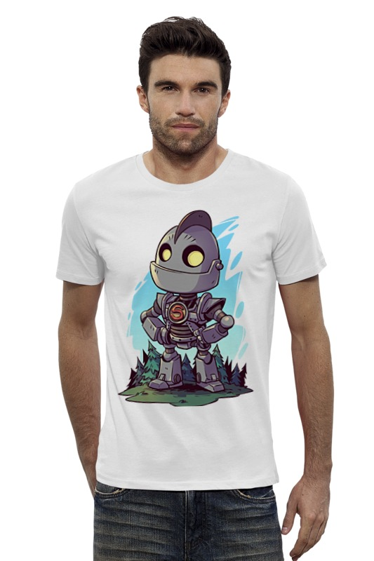 Футболка Wearcraft Premium Slim Fit Printio Робот футболка wearcraft premium slim fit printio avengers