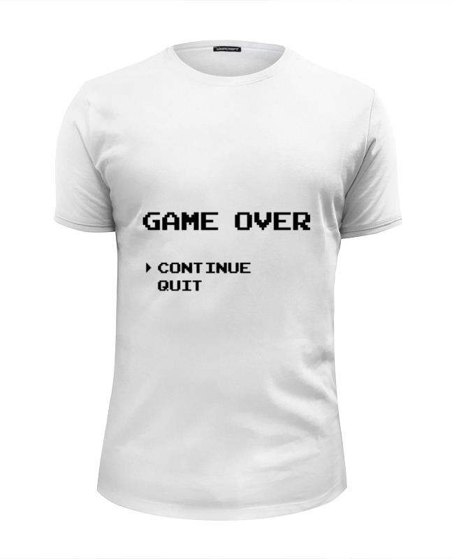 Футболка Wearcraft Premium Slim Fit Printio Конец игры (game over) футболка wearcraft premium slim fit printio игры гомера