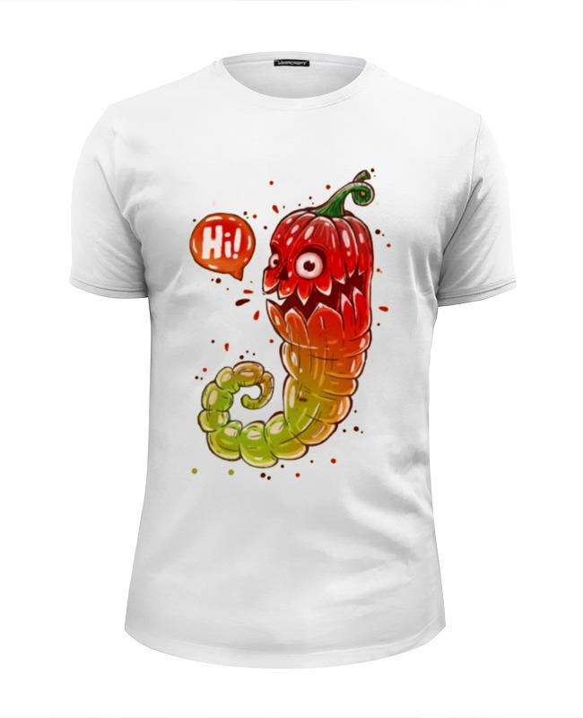 Футболка Wearcraft Premium Slim Fit Printio Hi i am the pepper