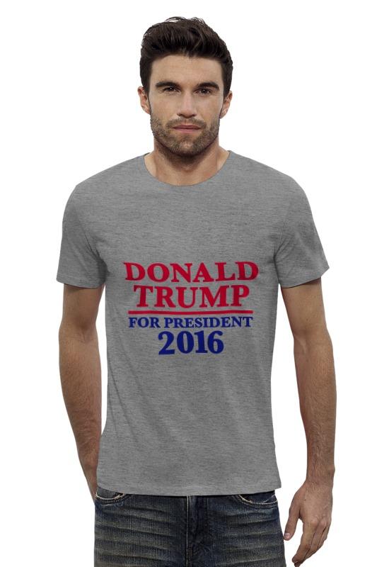 Футболка Wearcraft Premium Slim Fit Printio Donald trump 2016 trump donald john trump think like a billionaire