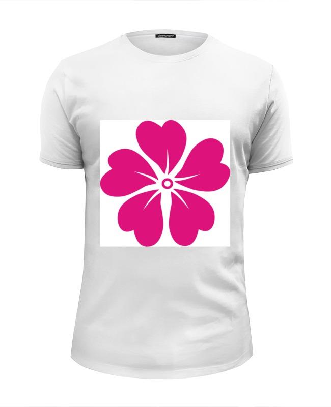 Футболка Wearcraft Premium Slim Fit Printio Розовый цветок футболка miamoda klingel цвет белый розовый полоска