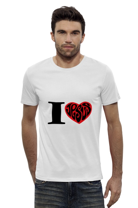 Футболка Wearcraft Premium Slim Fit Printio Я люблю иисуса футболка wearcraft premium slim fit printio я люблю мир