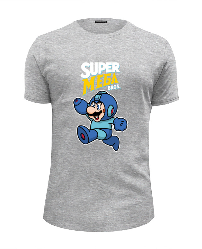 Футболка Wearcraft Premium Slim Fit Printio Super mario (mega man) майка классическая printio super mario mega man