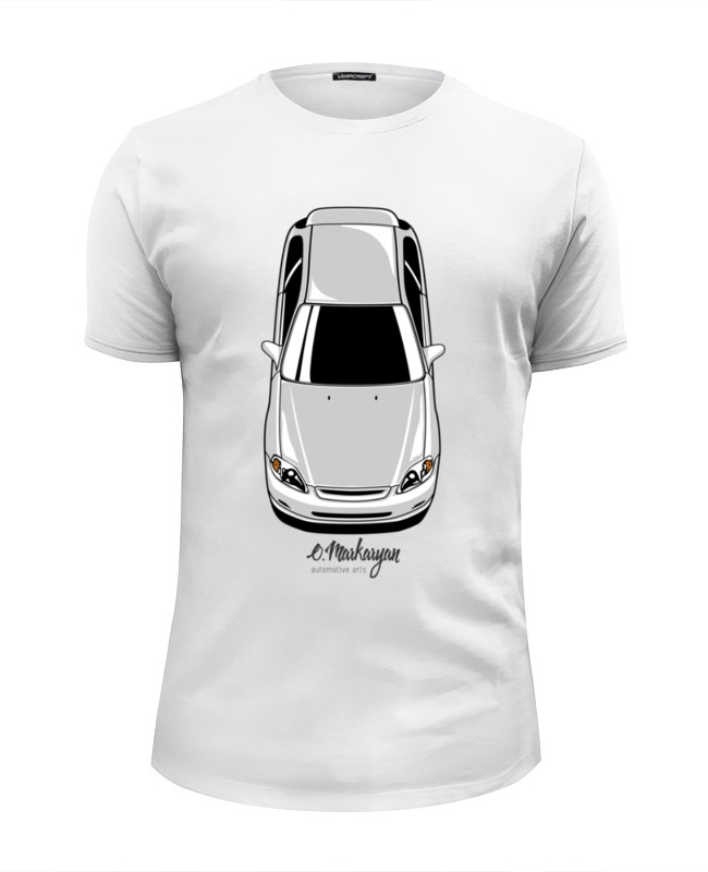 Футболка Wearcraft Premium Slim Fit Printio Honda civic ek hot 3d custom fit car trunk mat for honda civic crv city hrv vezel crosstour fit car styling heavey duty tray carpet cargo liner
