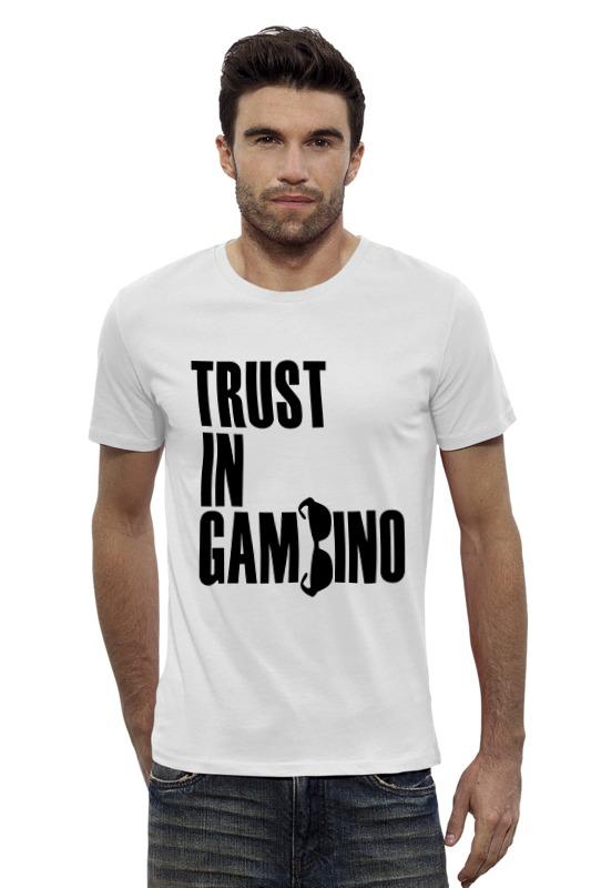 Футболка Wearcraft Premium Slim Fit Printio Trust in gambino developing trust in ride sharing system