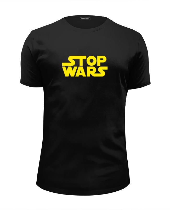 Футболка Wearcraft Premium Slim Fit Printio Stop wars oil stop valve