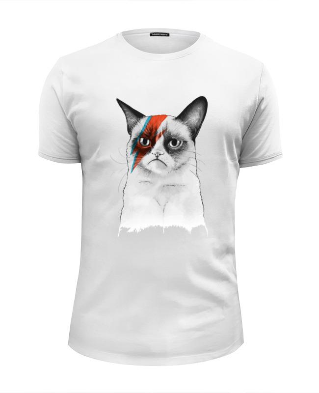 Футболка Wearcraft Premium Slim Fit Printio Grumpy cat x bowie футболка wearcraft premium slim fit printio грустный кот grumpy cat