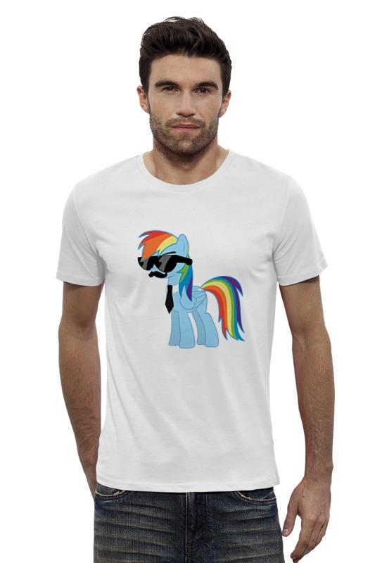 Футболка Wearcraft Premium Slim Fit Printio My little pony - rainbow dash (радуга) брелок ty my little pony rainbow dash 15 24 см