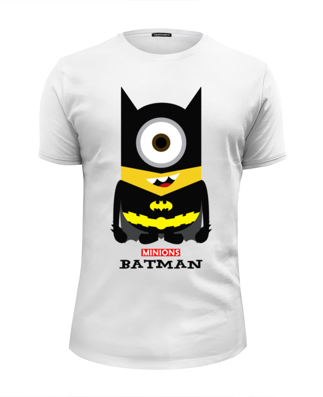 Футболка Wearcraft Premium Slim Fit Printio Minion batman футболка wearcraft premium printio minion dracula