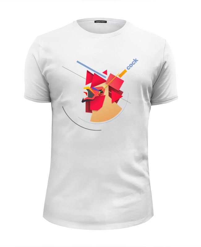 Футболка Wearcraft Premium Slim Fit Printio Suprematic cock скальп петуха veniard chinese cock cape