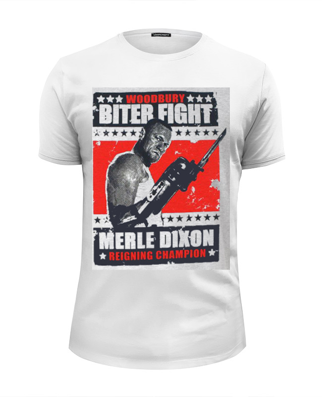 Футболка Wearcraft Premium Slim Fit Printio Walking dead merle dixon biter fight футболка fight nights