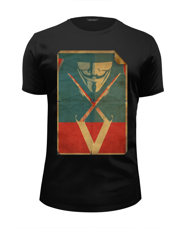 Футболка Wearcraft Premium Slim Fit Printio V - значит вендетта футболка с полной запечаткой женская printio v значит вендетта
