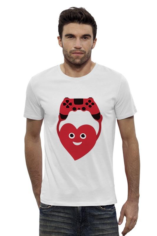 Футболка Wearcraft Premium Slim Fit Printio Джойстик и сердце