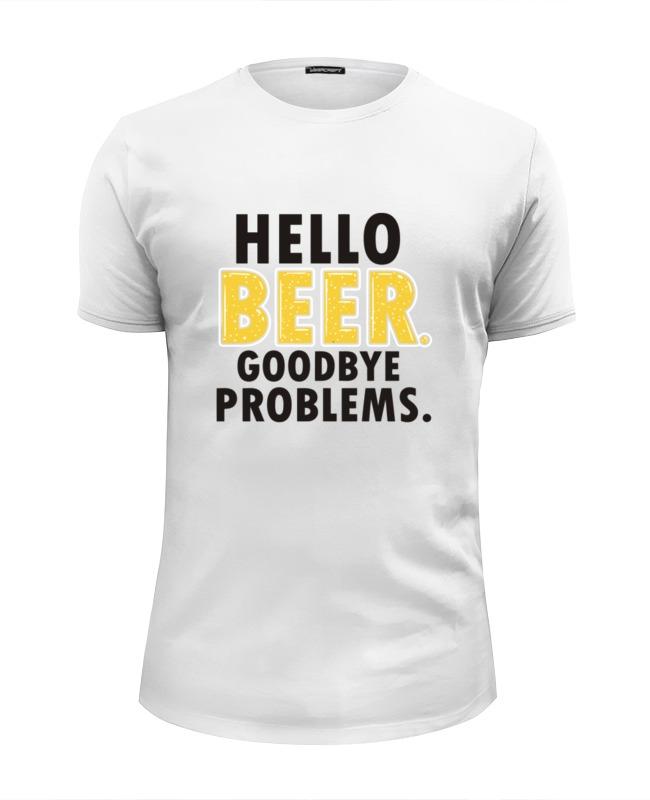 Футболка Wearcraft Premium Slim Fit Printio Hello beer beer burger