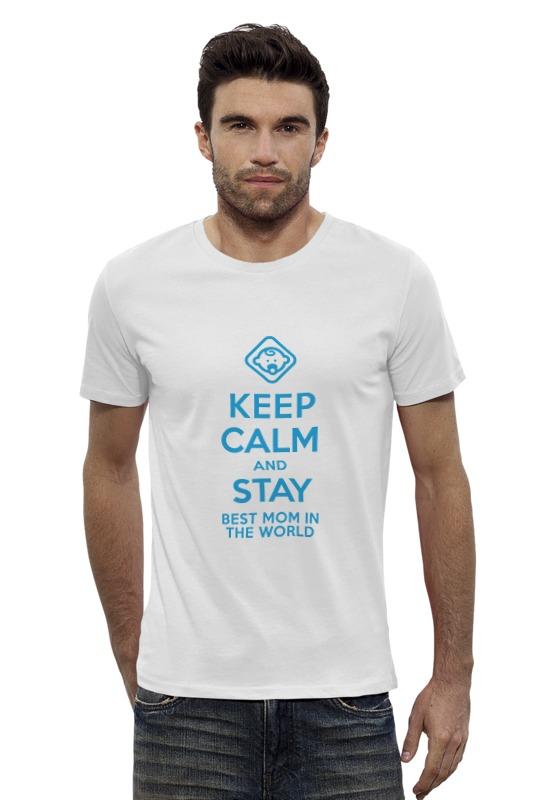 Футболка Wearcraft Premium Slim Fit Printio Stay best mom in the world футболка для беременных printio stay best mom in the world