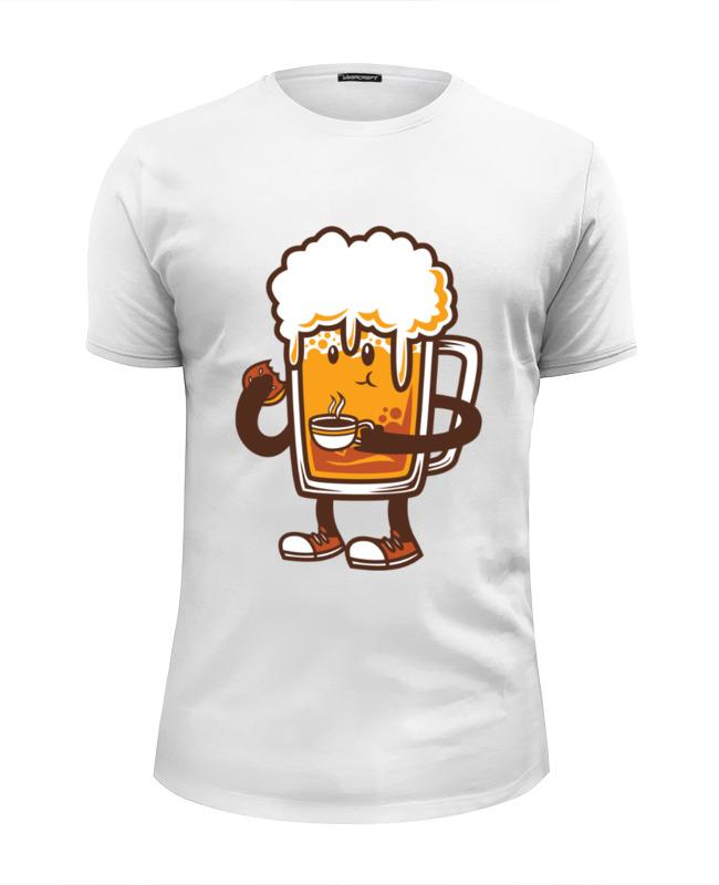 Футболка Wearcraft Premium Slim Fit Printio Пиво. лонгслив printio ячмень солод вода пиво