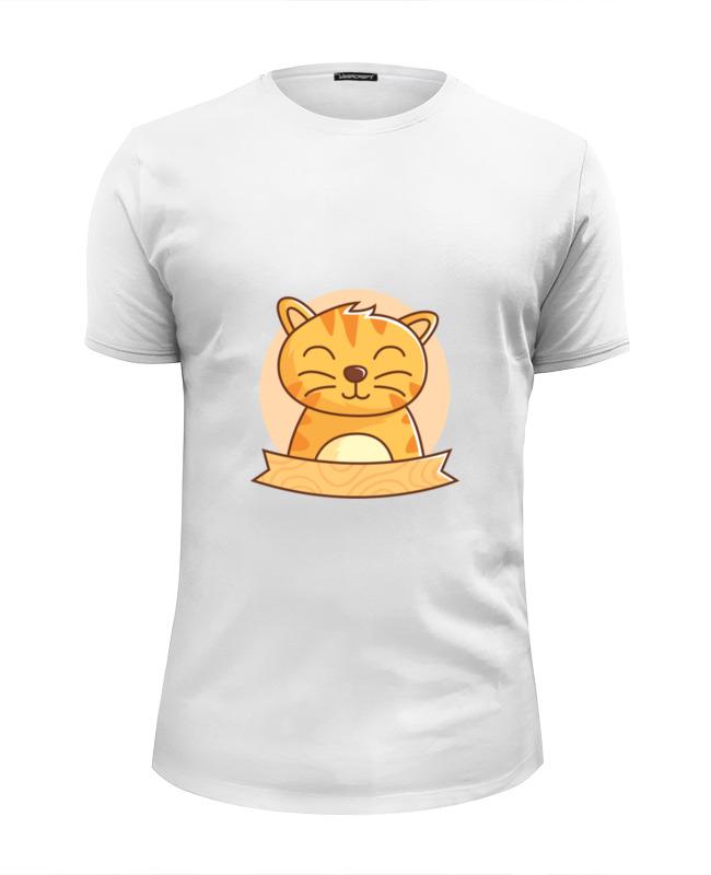 Футболка Wearcraft Premium Slim Fit Printio Спящий котёнок футболка wearcraft premium slim fit printio спящий котёнок