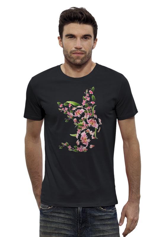 Футболка Wearcraft Premium Slim Fit Printio Цветочный орнамент футболка wearcraft premium printio болеем за наших