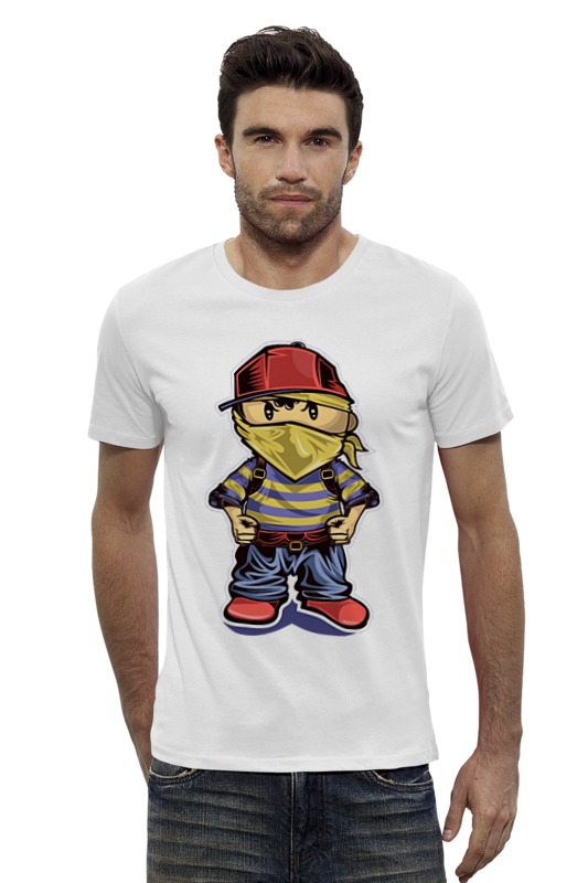Футболка Wearcraft Premium Slim Fit Printio Хулиган футболка wearcraft premium slim fit printio хулиган