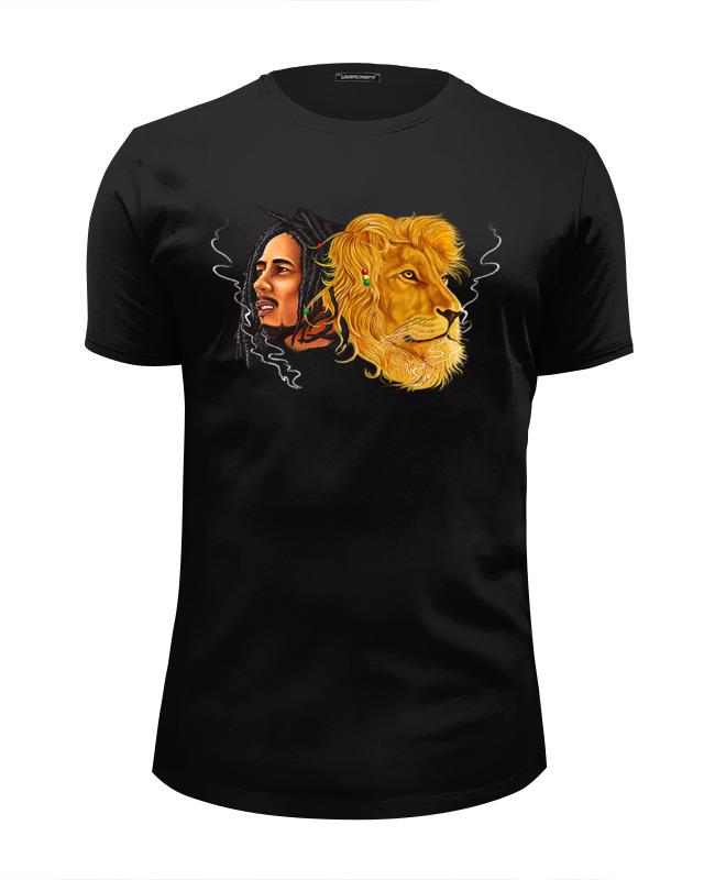 Футболка Wearcraft Premium Slim Fit Printio Bob marley&lion футболка wearcraft premium slim fit printio grunge bob