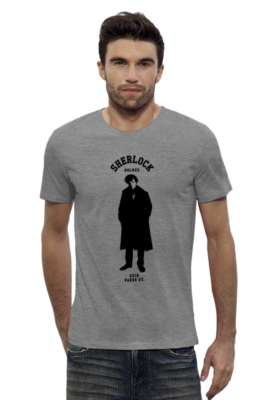 Футболка Wearcraft Premium Slim Fit Printio Шерлок холмс (sherlock holmes) толстовка wearcraft premium унисекс printio шерлок холмс sherlock holmes