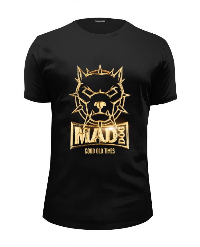 Футболка Wearcraft Premium Slim Fit Printio Mad dog gold