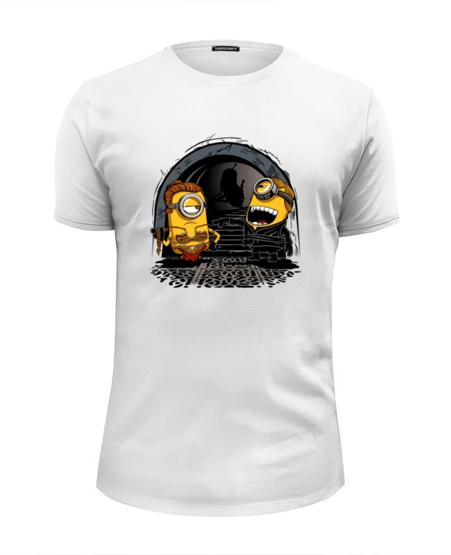 Футболка Wearcraft Premium Slim Fit Printio Миньоны - лея и люк футболка wearcraft premium slim fit printio oops миньоны