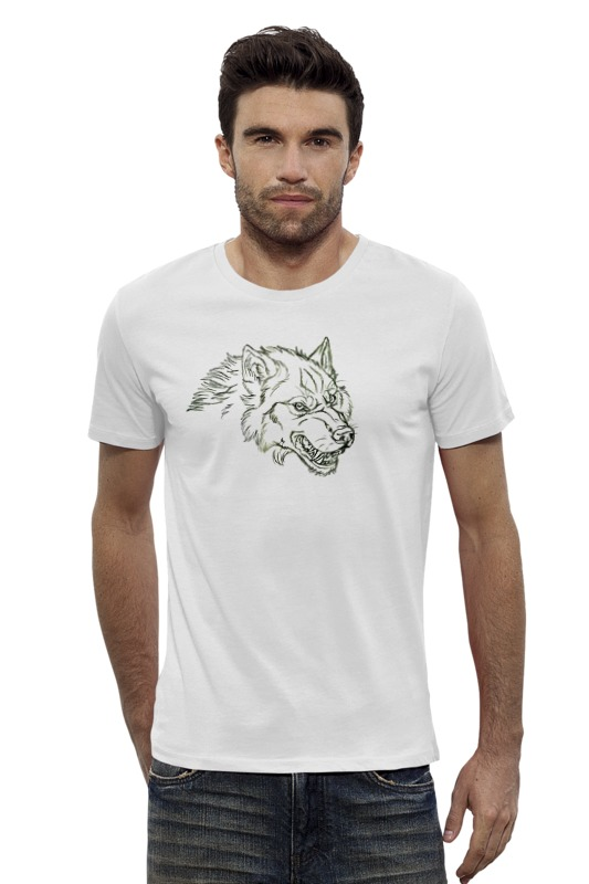 Футболка Wearcraft Premium Slim Fit Printio Angry wolf толстовка